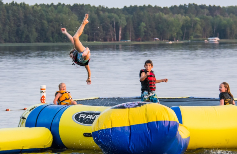 Water trampoline at Bear Paw Resort.