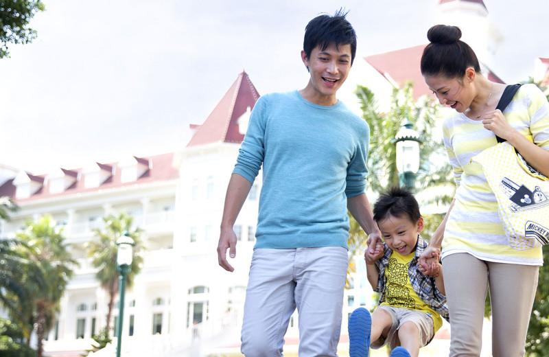 Family at Hong Kong Disneyland.
