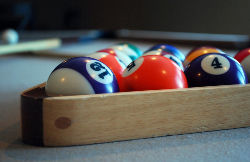 Billiard balls at Vacation Home in Branson.