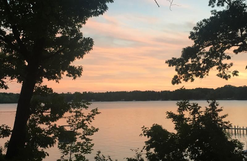 Sunset at White Birch Lodge.