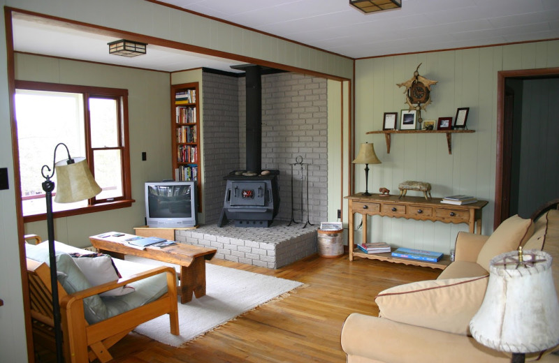 Cabin living room at Valhalla Resort & Vacation.