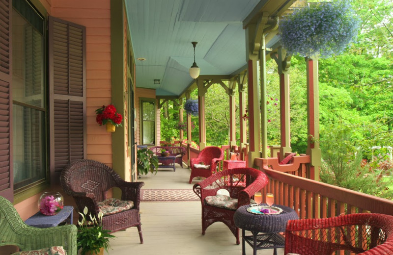 The porch at The Rookwood Inn.