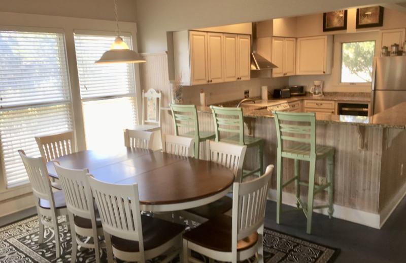 Rental kitchen at Mary Munroe Realty: Bald Head Vacations & Sales.