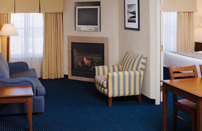 Guest room at Residence Inn Saginaw.