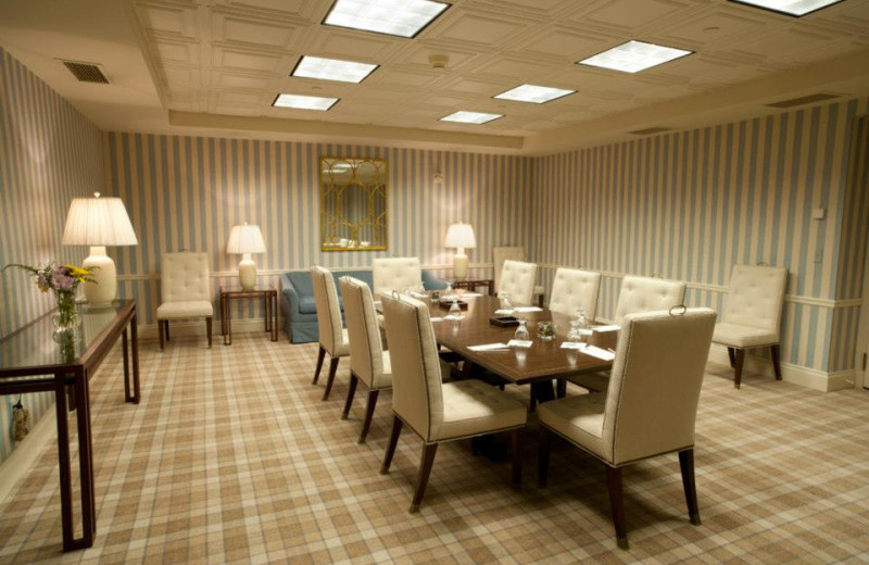 Intimate conference room at The Otesaga Resort Hotel.