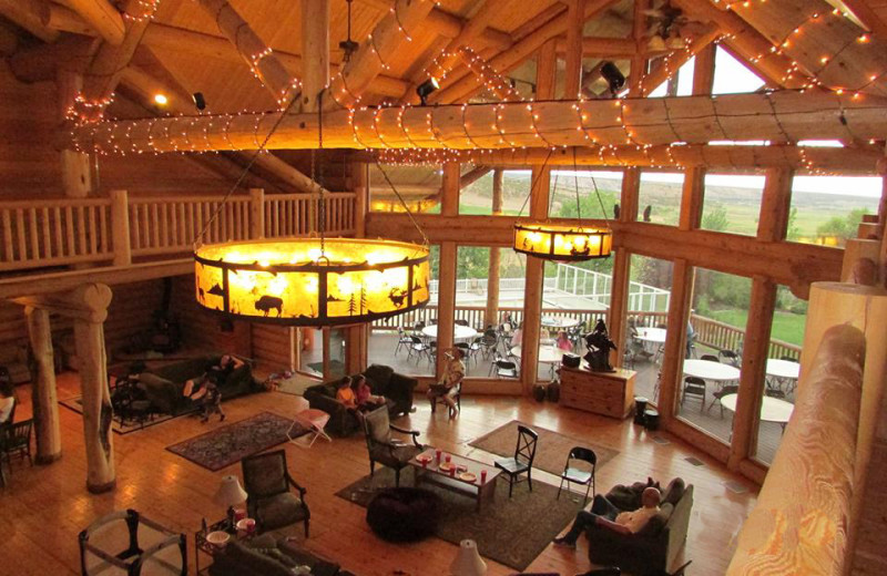 Lobby at Hidden Springs Ranch.