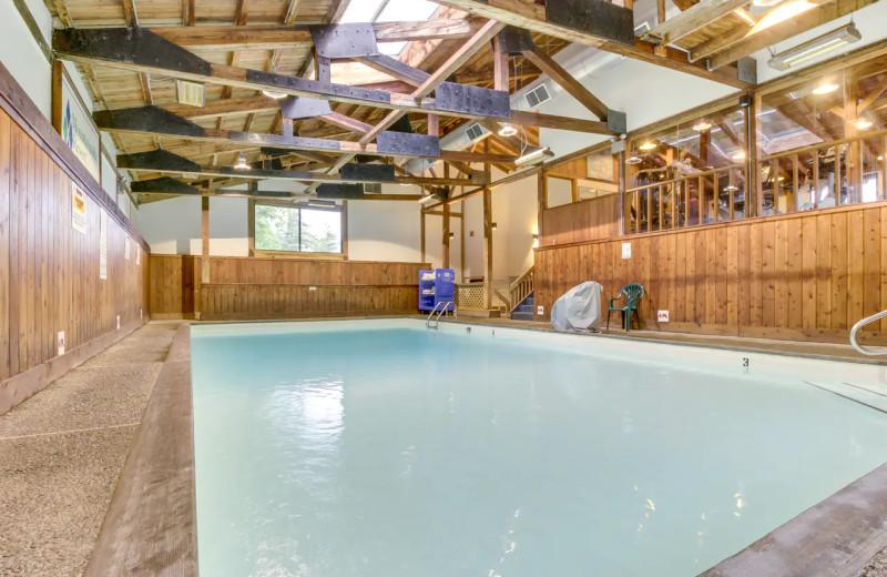 Indoor pool at Rentals at Stowe.