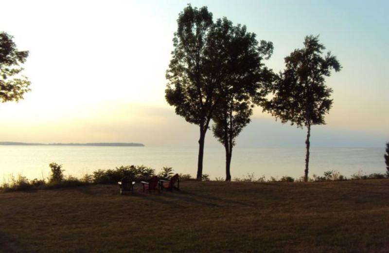 Lake view at Bay Shore Inn.
