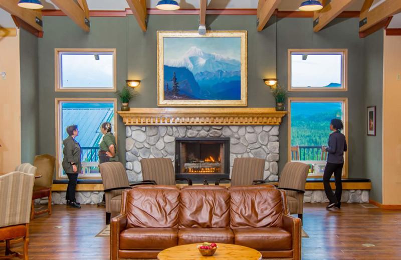 Lobby at Denali Bluffs Hotel.