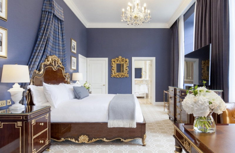 Guest room at Turnberry Hotel.
