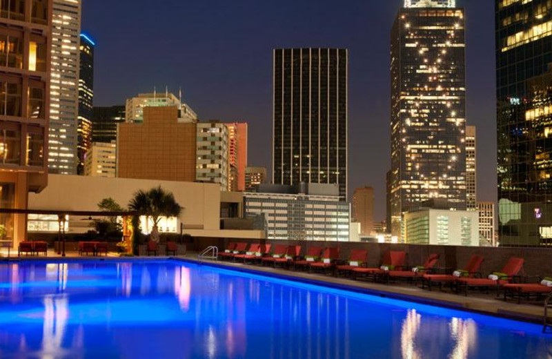Outdoor pool at The Fairmont Dallas.