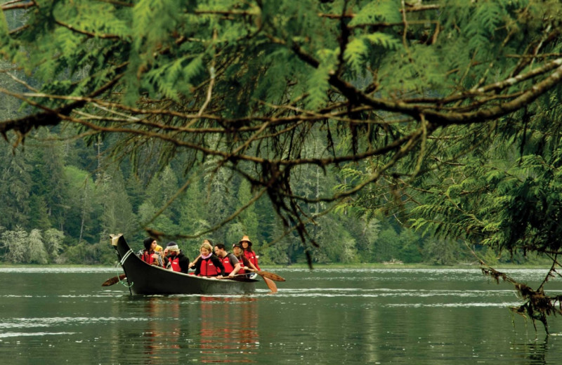 Boat tours at Wickaninnish Inn.