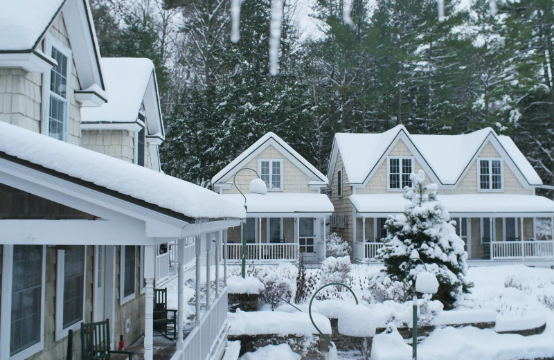Winter time at Sunapee Harbor Cottages.