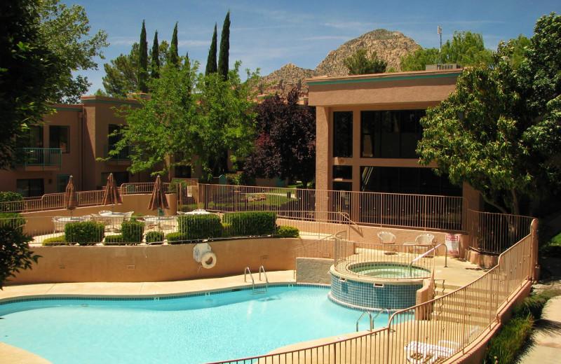 Outdoor pool at Villas of Sedona.