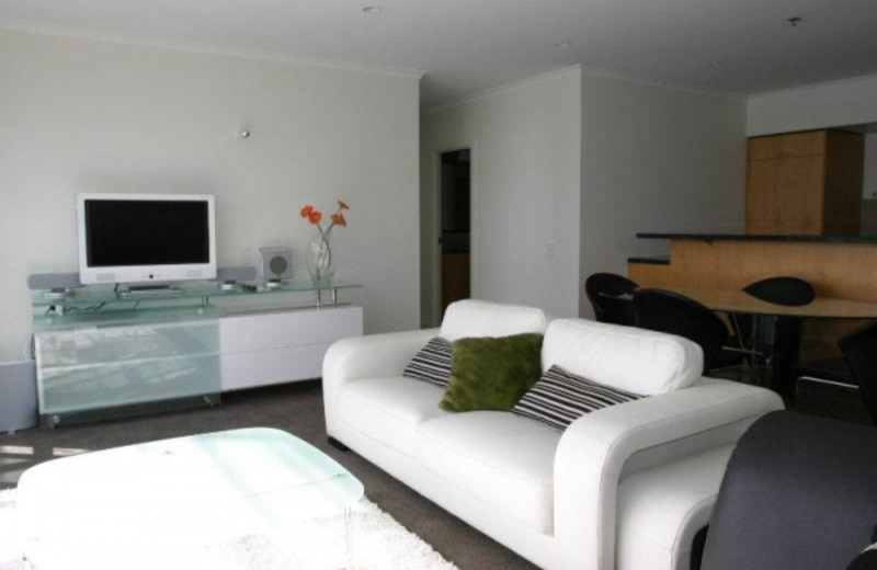 Guest room at Auckland Waterfront Serviced Apartments at Prince's Wharf.