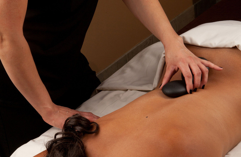 Stone massage at Grand Traverse Resort.