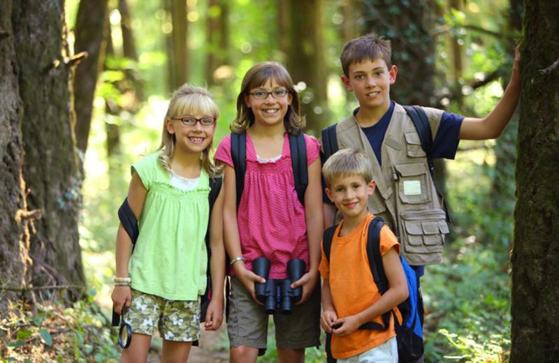Hiking at Old Forge Camping Resort.