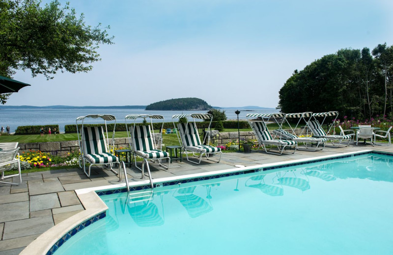 Outdoor pool at Balance Rock Inn.
