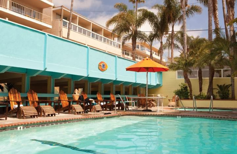 Outdoor pool at Pacific Edge Hotel.