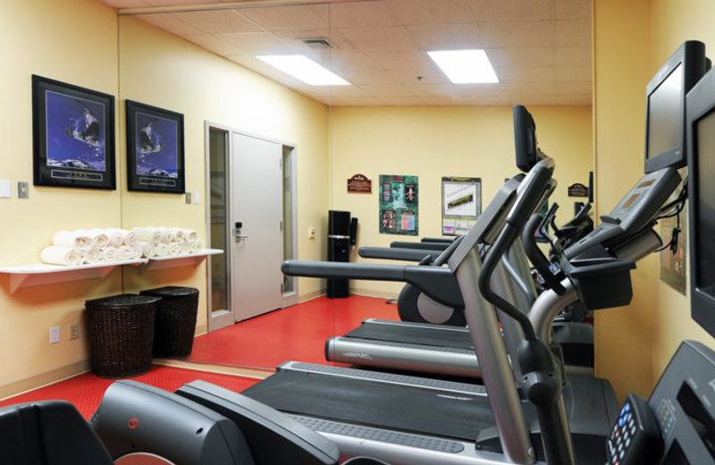 Fitness room at Residence Inn Mont Tremblant Manoir Labelle.