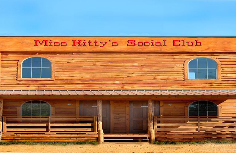 Miss Kitty's Social Club Cabin at Diamonds Old West Cabins.