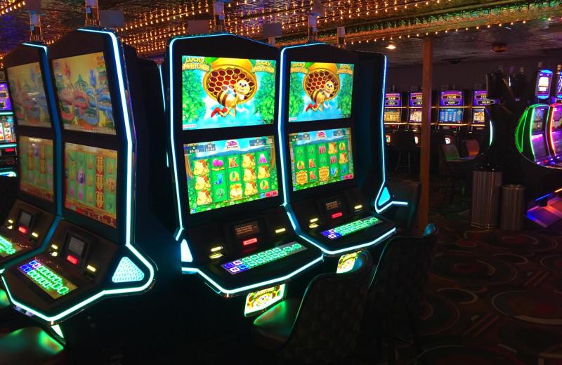 Slot machines at Isle of Capri Casino in Marquette.