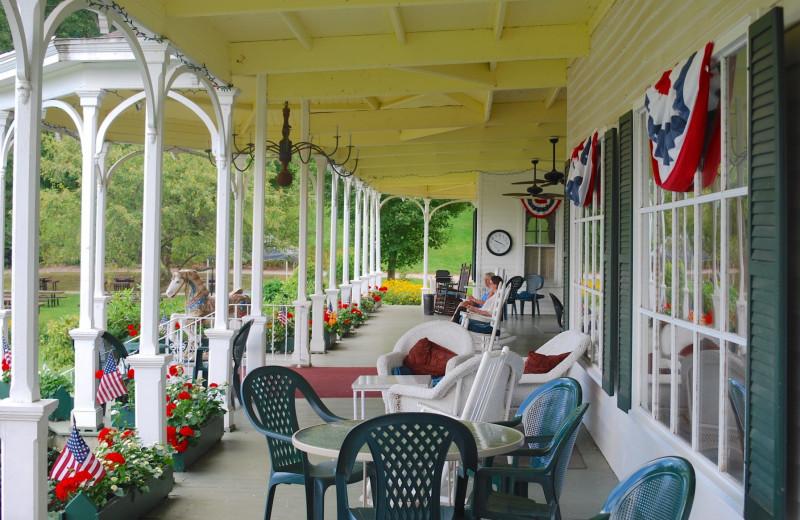 Porch at Winter Clove Inn.