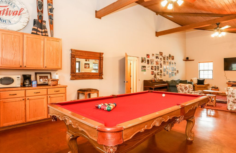 Billiard table at Farr Side Lake Vacation Home.