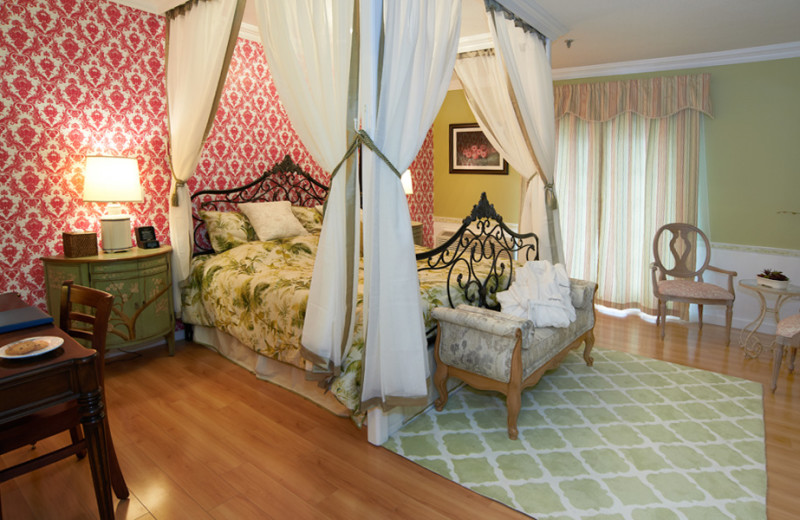 Guest room at The Litchfield Inn.