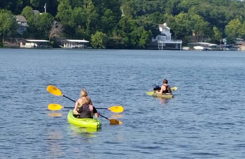 Kayaking at Kon Tiki Resort.