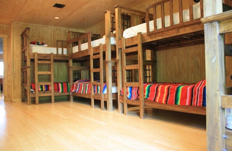 Rental bunk beds at Frio Family Getaway