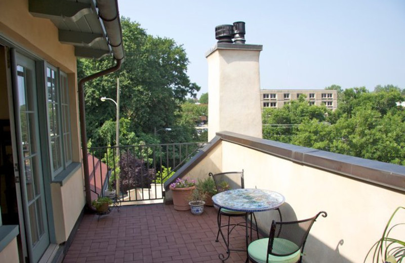 Balcony at The Inn at 400 West High.