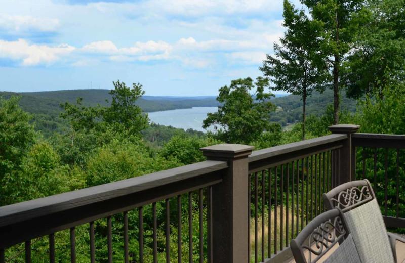 Rental balcony view at Railey Mountain Lake Vacations.