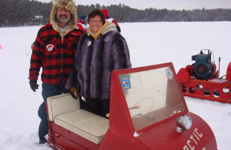 Snowmobiling at Chanticleer Inn.
