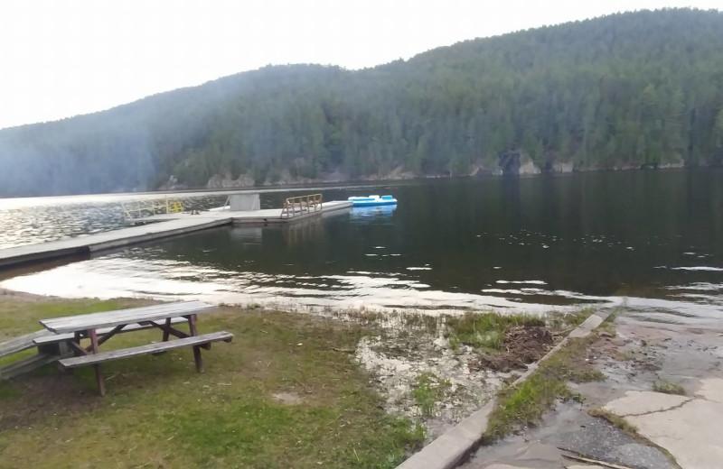 Lake view at Mattawa River Resort.