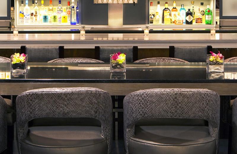 The bar at the Hyatt Regency Boston.