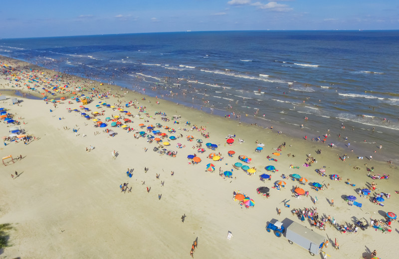 Galveston Island offers 32 miles of family and pet friendly beaches.