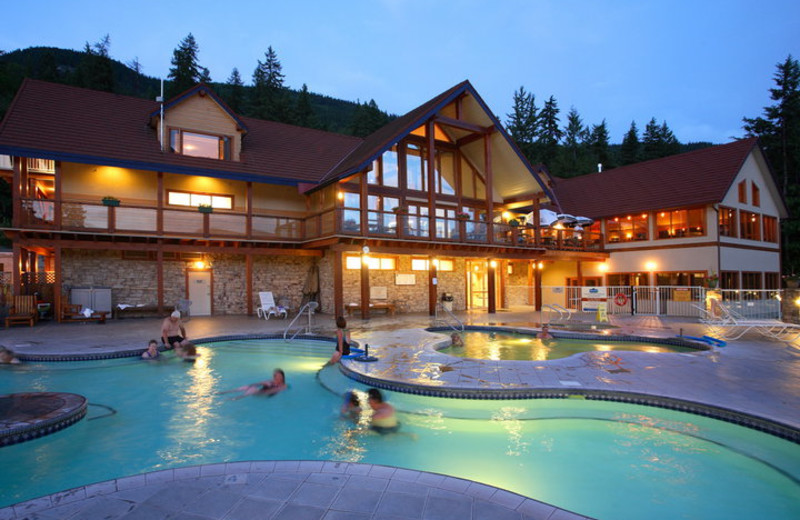 Outdoor pool at Halcyon Hot Springs Village and Spa.