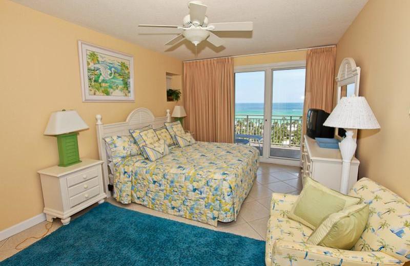 Rental bedroom at Sterling Shores.