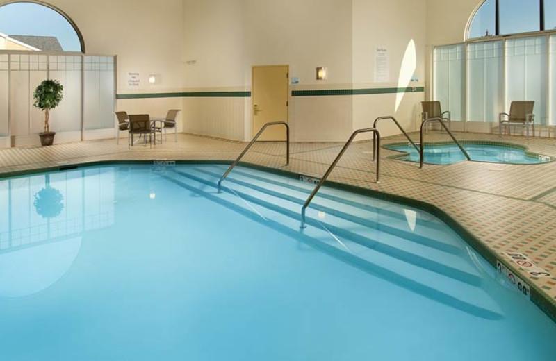 Indoor pool at Holiday Inn Express Manassas.