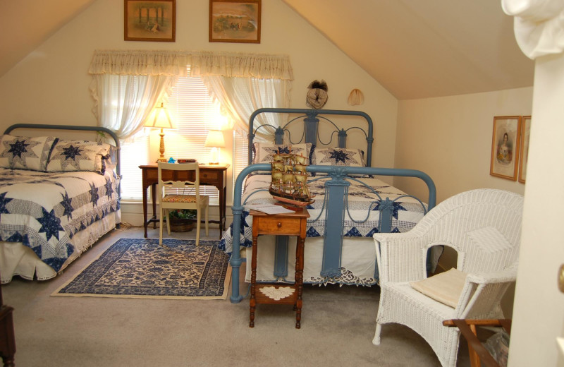 Guest room at Olde Stonehouse Bed and Breakfast Inn.