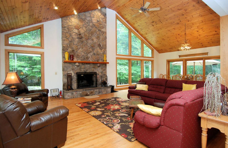 Vacation rental living room at Old Timberline Community.