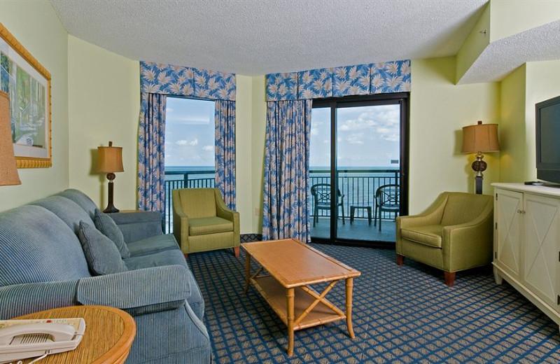 Guest living room at Caribbean Resort & Villas.