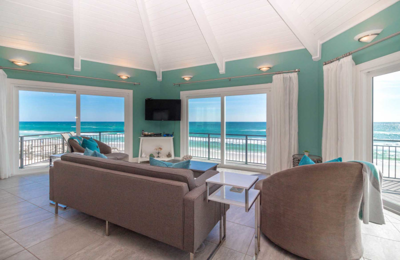 Rental living room at Paradise Properties Vacation Rentals & Sales.