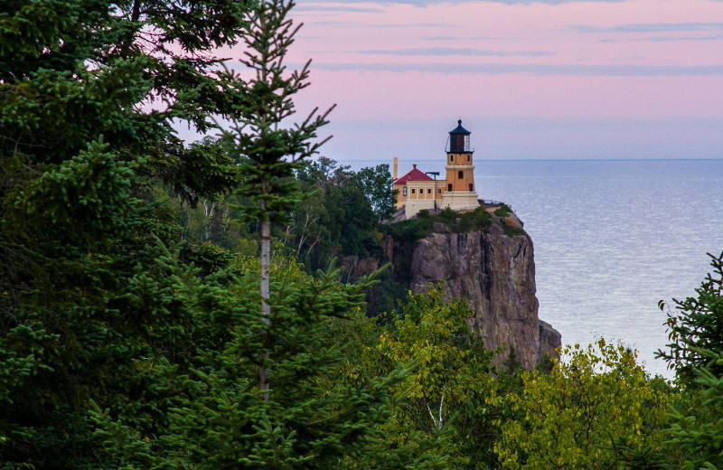 Lighthouse near Grand Superior Lodge on Lake Superior.