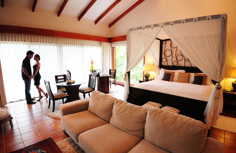 Guest suite at Tabacon Resort.