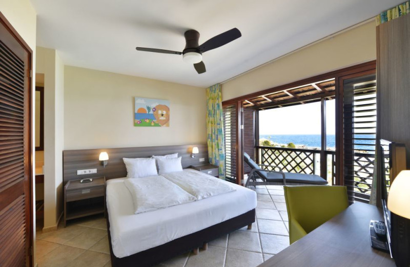 Guest suite at Lions Dive Hotel Curacao.