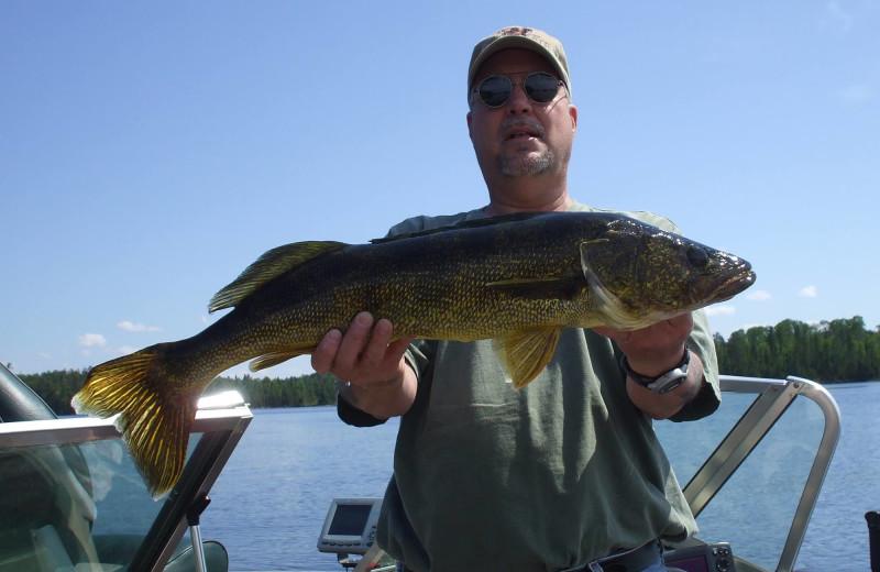 Fishing at Lodge of Whispering Pines.