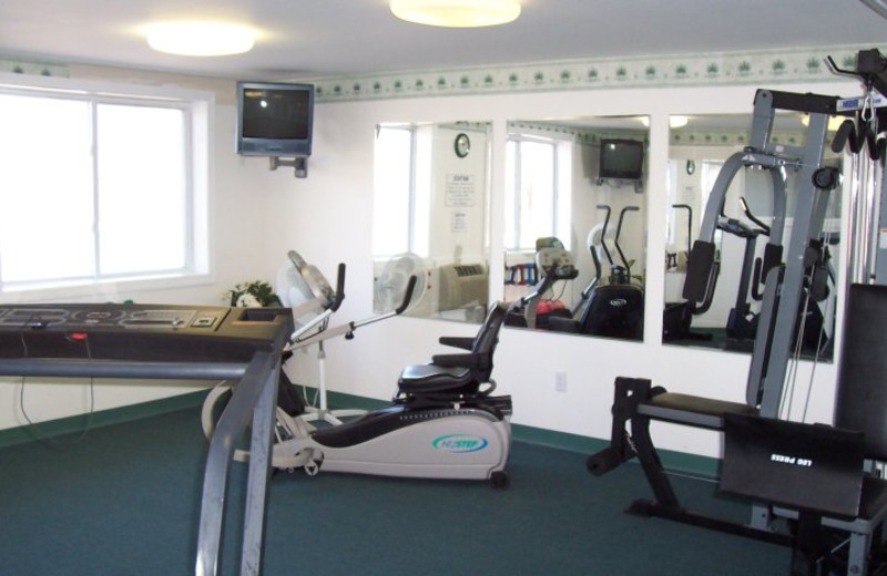 Fitness room at Highland Lake Resort.