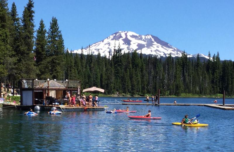 Mountain view at Elk Lake Resort.